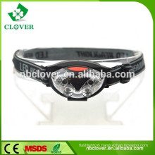 High power 4+2 red led flash head lamp high bright hand infrared move sensor led headlamp with head strap