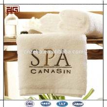 Custom Embroidery Logo 100% Cotton White Wholesale Used Hotel Towels