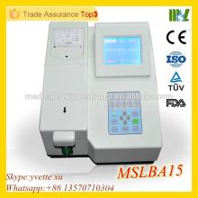 MSLBA15 Hot sale Meilleur prix analyseur de biochimie semiautomatique analyseur de chimie semi-automatique