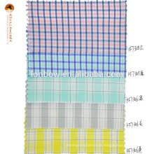 Tecido de algodão spandex mistura de nylon com verificação de guingão