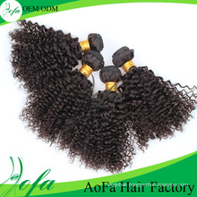 Afro Double Weft Brazilian Kinky Curly Human Hair Extension