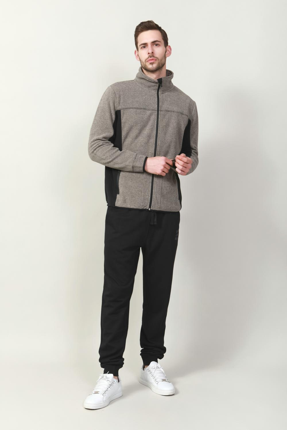men's contrast bonded jacket