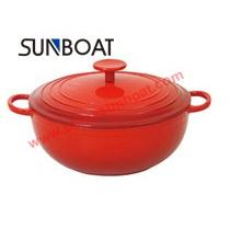 Rote Farbe maßgeschneiderte Emaille Casserole Kochgeschirr mit Cover Houseware