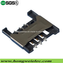 H=1.80mm 6p Push Push Socket SIM Card Connector