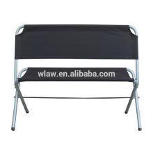 Assentos Duplos ao ar livre Esporte Leve Espreguiçadeira 2-Pessoa Assento de Amor de Aço Inoxidável Dobrável Cadeira de Acampamento para banco de jardim