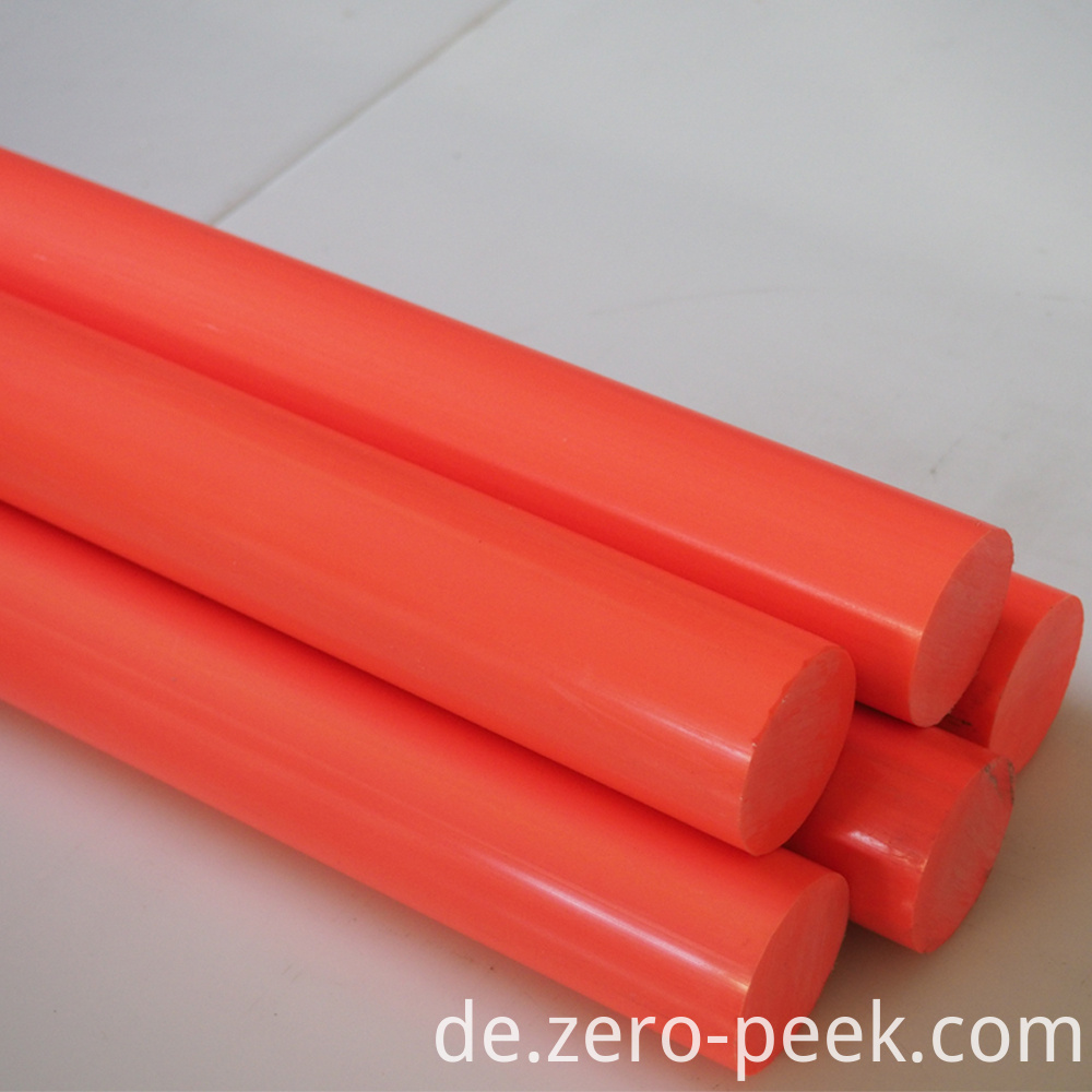 Orange natural delrin rod