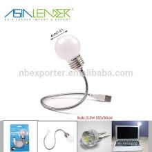 BT-4823 0.5 W 30 Lumen Flexible USD Powered lámpara LED