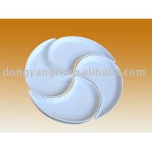 placa do compartimento de porcelana
