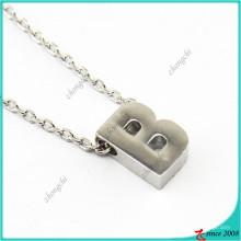 Prata das senhoras 26 letras colar de corrente de ligação charme