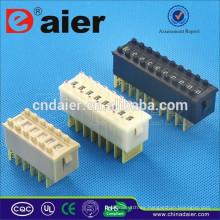 Daier Negro / Blanco / Crema color 1 ~ 12 Posición Plástico 8421 Tri-State Dip Switch