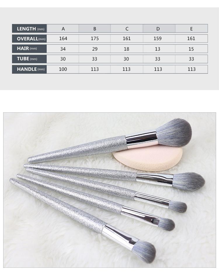 custom makeup brush handles