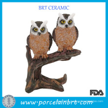 Resin Owl Figurine Standing on The Branch