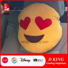 Hot Sale Coche Cuello almohada Emoji suave peluche cojín de juguete