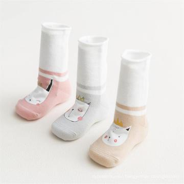 2019 Hot Sale   bulk soft touch silicone rubber cotton non slip baby socks