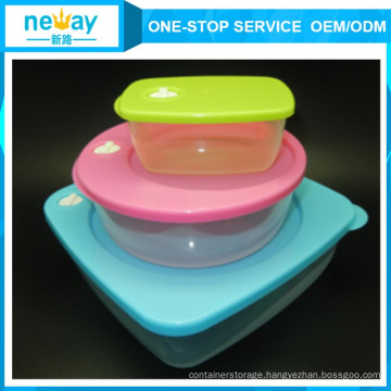 Transparent Cute 3 Sets Food Container for Wholesale