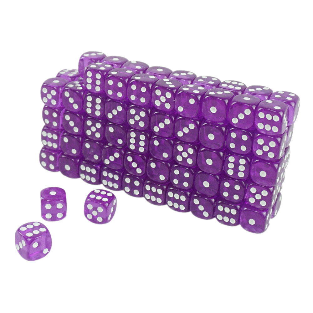 High Quality Acrylic Transparent Casino Dice Purple