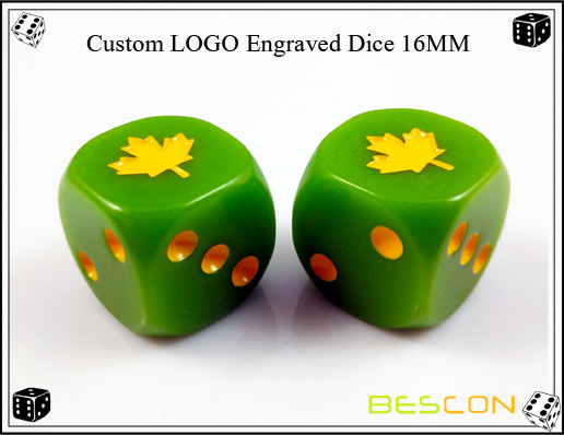 Custom LOGO Engraved Dice 16MM