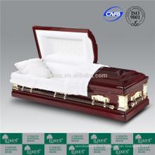 Fabricación de LUXES Estados Unidos americano nuevas camas de ataúdes para Funeral por mayor