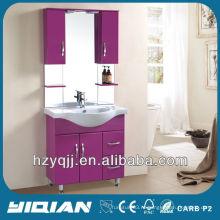Горячая продажа Свободно стоящий иракский и турецкий простой дизайн с шкафами Глянцевый шкаф для ванной комнаты Voilet MDF Vanity Vanity
