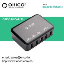 ORICO DCAP-5S Carregador de parede USB de 5 portas para Ipad / Iphone com IC Intelliegent Charging