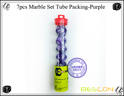 7pcs Marble Set Tube Packing-Purple