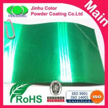 Hochschützende transparente grüne Pulverbeschichtung