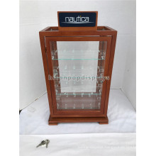 Wood 4 Shelves Watches And Jewelry Retail Store Showcase Commercial Sale Plexi Glass Display Case