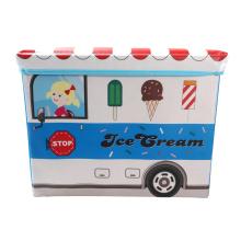 Caixa de brinquedos azul claro para carros de sorvete