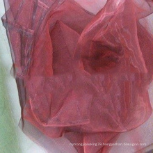 First-rate moisture absorption plain organza fabric