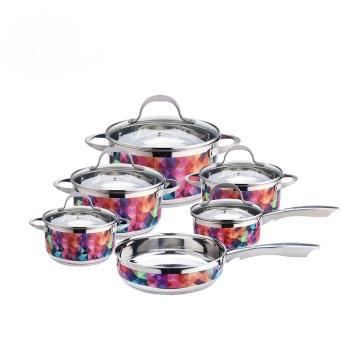 Fry pan casserole saucepan stainless steel cooker
