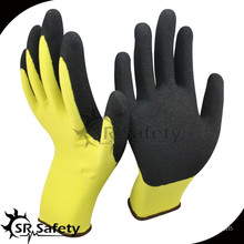 SRSAFETY sandy finish nitrile palm coated safety hand working gloves