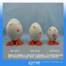 Цветочный дизайн яйцо формы керамический перец & солонка