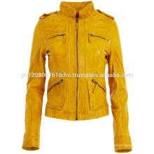 2016 Fashion Winter jacket Vintage short lady motorcycle leather Jacket wholesale
