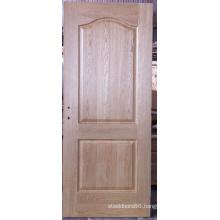 2 Panel Unfinished Arc-Shaped Oak Veneered Moulded Door, Interior Doors
