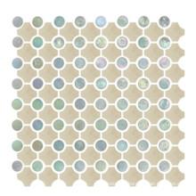 Azulejo de cuero de imitación, Azulejo de mosaico de cerámica, Mosaico redondo