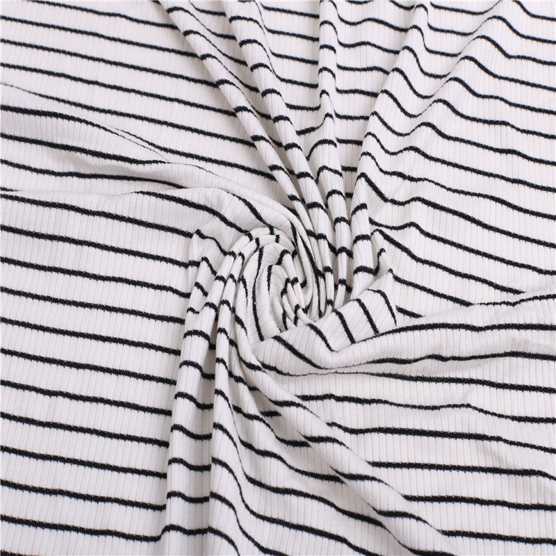 stripe Knitted Rib Fabric