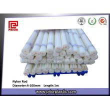 Rod de nylon natural promocional de la calidad superior del molde