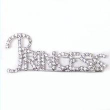"Broche de moda ""BRIDE"" de diamantes de imitación"