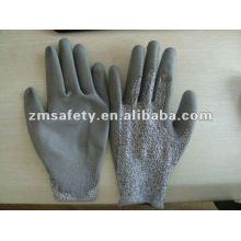 PU Coated Sheet Metal Cut Resistant Glove ZMR378