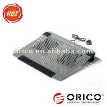 Newest fanshionable Dual fans All aluminum laptop cooling pad