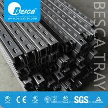 Canal de apoio entalhado de aço de Glavanized do mergulho quente com CE, GV, UL (Canal do C, Unistrut, canal do suporte de Uni)