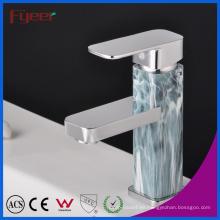Fyeer Chrome plateado lacado de una sola manija latón cuenca grifo baño fregadero grifo mezclador de agua Wasserhahn