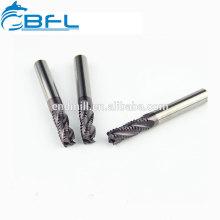Molinos de extremo rugoso de carburo de grano ultra ultra BFL, herramientas CNC Molino de extremo de madera