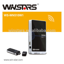 Wireless 5G HDMI WHDI Transmitter and Receiver AV Kit , Supports Full HD 1080p signals.