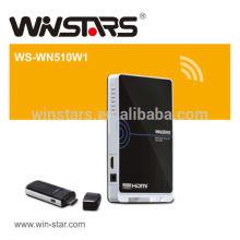 Transmissor 5G HDMI WHDI sem fio e transmissor de entrada WHDI, suporta sinais Full HD 1080p.