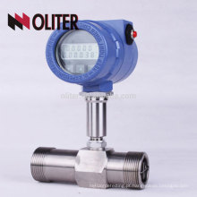 fabricante medidor de fluxo de turbina de gás líquido de óleo inteligente de 4-20mA pulso com LCD
