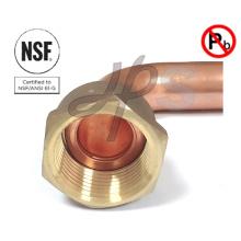 Couplage de coude en laiton sans plomb NSF
