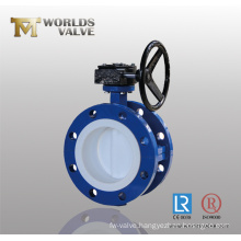Manual Operated Double Flange Butterfly Valve