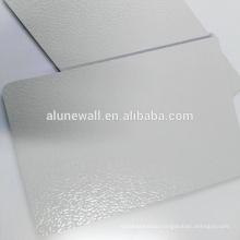 Interior wall decorative embossed aluminum composite wall panel