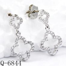 Dernières boucles d'oreilles Styles 925 bijoux en argent (Q-6844)